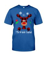 7th Grade Squad Reindeer Short-Sleeves Tshirt, Pullover Hoodie, Great Gift T-shirt For Thanksgiving Birthday Christmas