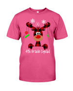 4th Grade Squad Reindeer Short-Sleeves Tshirt, Pullover Hoodie, Great Gift T-shirt For Thanksgiving Birthday Christmas