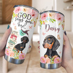 Personalized God Says You Are Dachshund Custom Name Stainless Steel Tumbler, Tumbler Cups For Coffee/Tea, Great Customized Gifts For Birthday Christmas Thanksgiving