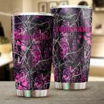 Personalized Muddy Girl Pink Camo Tumbler Funny Gifts Men Women Kids Grandkids Custom Name Stainless Steel 20 Oz Tumbler