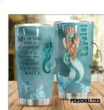 Personalized My demon tried to drown me but they didn't know i could breathe under water tumbler