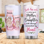 Personalized Custom Name Mother & Daughter Stainless Steel Tumbler, Tumbler Cups For Coffee Or Tea, Great Gifts For Thanksgiving Birthday Christmas
