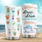 Personalized Drink And Cruise Custom Name Stainless Steel Tumbler, Tumbler Cups For Coffee/Tea, Great Customized Gifts For Birthday Christmas Thanksgiving