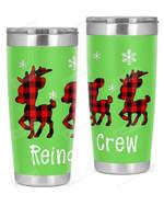 Reindeer Crew, Merry Christmas Stainless Steel Tumbler, Tumbler Cups For Coffee/Tea