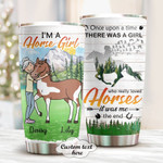 Personalized Horse Girl Custom Name Stainless Steel Tumbler, Tumbler Cups For Coffee/Tea, Great Customized Gifts For Birthday Christmas Thanksgiving