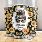 Personalized Sunflower Mom Life Stainless Steel Tumbler, Tumbler Cups For Coffee/Tea, Great Customized Gifts For Birthday Anniversary