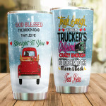 Personalized Truck  God Blessed Us Stainless Steel Tumbler, Tumbler Cups For Coffee/Tea, Great Customized Gifts For Birthday Christmas Thanksgiving, Anniversary