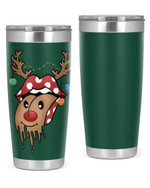 Tongueout, Merry Christmas Stainless Steel Tumbler, Tumbler Cups For Coffee/Tea, Great Customized Gifts For Birthday Christmas Anniversary