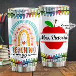 Personalized My Jam Is Teaching, Teacher Stainless Steel Tumbler Cup For Coffee/Tea, Great Customized Gift For Birthday Christmas Thanksgiving