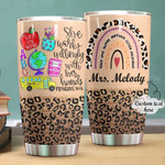 Personalized She Works Willingly Stainless Steel Tumbler Cup For Coffee/Tea, Great Customized Gift For Birthday Christmas Thanksgiving