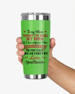 Personalized To My Mom, Thanks for being my mom, Stainless Steel Tumbler Cup For Coffee/Tea, Great Customized Gift For Birthday Christmas Thanksgiving