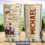 Personalized To My Son Custom Stainless Steel Tumbler