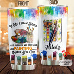 Personalized Painting Make You Thin Custom Name Stainless Steel Tumbler, Tumbler Cups For Coffee/Tea, Great Customized Gifts For Birthday Christmas Thanksgiving