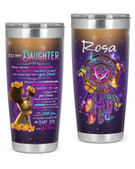 Personalized Custom Name Mom To My Daughter Never Feel You Are Alone Stainless Steel Tumbler, Tumbler Cups For Coffee Or Tea, Great Gifts For Thanksgiving Birthday Christmas