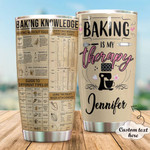 Personalized Baking Knowledge Stainless Steel Tumbler, Tumbler Cups For Coffee/Tea, Great Customized Gifts For Birthday Christmas Thanksgiving Anniversary