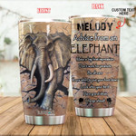 Personalized Advice From An Elephant Custom Name Stainless Steel Tumbler, Tumbler Cups For Coffee/Tea, Great Customized Gifts For Birthday Christmas Thanksgiving