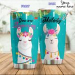 Personalized You Are Llamazing Custom Name Stainless Steel Tumbler, Tumbler Cups For Coffee/Tea, Great Customized Gifts For Birthday Christmas Thanksgiving