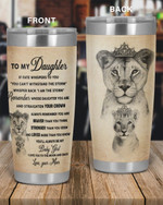 Personalized Family To My Daughter You'll Always Be My Baby Girl, I Love You To The Moon And Back Stainless Steel Tumbler, Tumbler Cups For Coffee/Tea
