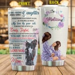 Personalized To My Amazing Daughter Custom Name Stainless Steel Tumbler, Tumbler Cups For Coffee/Tea, Great Customized Gifts For Birthday Christmas Thanksgiving