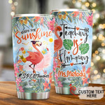 Personalized Flamingo Ready For Sunshine Teaching Is Flamazing Stainless Steel Tumbler, Tumbler Cups For Coffee/Tea, Great Customized Gifts For Birthday Anniversary