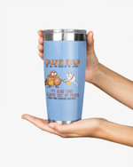 Personalized Dear Dad, I'm Glad That I'm Out Of Yours, Sperm And Balls Art Stainless Steel Tumbler Cup For Coffee/Tea, Great Customized Gift For Birthday Christmas Thanksgiving