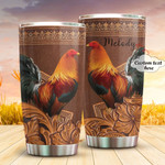 Personalized Chicken Stainless Steel Tumbler, Tumbler Cups For Coffee/Tea, Great Customized Gifts For Birthday Christmas Thanksgiving Anniversary