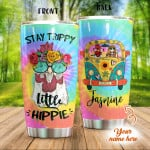 Personalized Chicken And Hippie Girl Stainless Steel Tumbler, Tumbler Cups For Coffee/Tea, Great Customized Gifts For Birthday Christmas Thanksgiving Anniversary