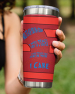 I Will Teach You Here Or There, I Will Teach You In A Room, I Care Red Lines Stainless Steel Tumbler Cup For Coffee/Tea
