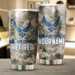 Personalized U.S Air Force Tumbler Air Force Retired Gifts For Men Women Kids Grandkids Custom Name Stainless Steel 20 Oz Tumbler