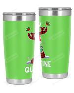 Reindeer, Quarantine Merry Christmas Stainless Steel Tumbler, Tumbler Cups For Coffee/Tea