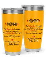Personalized To My Mommy From Baby Bump Stainless Steel Tumbler, Tumbler Cups For Coffee/Tea, Great Customized Gifts For Birthday Christmas Thanksgiving, Anniversary