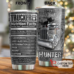 Personalized Trucker Nutrition Facts Custom Name Stainless Steel Tumbler, Tumbler Cups For Coffee/Tea, Great Customized Gifts For Birthday Christmas Thanksgiving