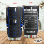 Personalized Police Officer Custom Name Stainless Steel Tumbler, Tumbler Cups For Coffee/Tea, Great Customized Gifts For Birthday Christmas Thanksgiving