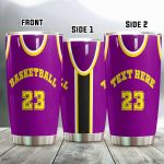Basketball Personalized Tumbler Basketball Jersey Tumbler
