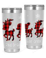 2nd Grade Teacher Crew, Merry Christmas Stainless Steel Tumbler, Tumbler Cups For Coffee/Tea