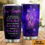 Personalized To My Daughter My Greatest Wish Is That Dreamcatcher  Stainless Steel Tumbler, Tumbler Cups For Coffee/Tea, Great Customized Gifts For Birthday Christmas Thanksgiving, Anniversary