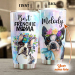Personalized Best Frenchie Mama Custom Name Stainless Steel Tumbler, Tumbler Cups For Coffee/Tea, Great Customized Gifts For Birthday Christmas Thanksgiving