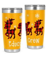 Educator , Merry Christmas Stainless Steel Tumbler, Tumbler Cups For Coffee/Tea