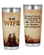 Personalized To My Wife From Husband Stainless Steel Tumbler, Tumbler Cups For Coffee/Tea, Great Customized Gifts For Birthday Christmas Thanksgiving, Anniversary