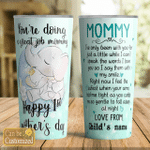 Personalized Happy 1st Mother's Day For Mom Stainless Steel Tumbler, Tumbler Cups For Coffee/Tea, Great Customized Gifts For Birthday Christmas Thanksgiving