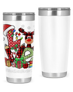 School Social Worker, Merry Christmas Stainless Steel Tumbler, Tumbler Cups For Coffee/Tea