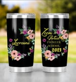 Zoom Virtual Pioneer School 2021 Tumbler Gifts For Son Daughter Graduating First Day Of School From Dad Mom Stainless Steel Tumbler Custom Name 20 Oz