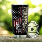 Personalized Name American Flag Stainless Steel Tumbler, Tumbler Cups For Coffee Or Tea, Great Gifts For Thanksgiving Birthday Christmas