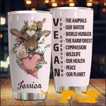 Personalized Vegan For Everything Stainless Steel Tumbler Perfect Gifts For Vegan Lover Tumbler Cups For Coffee/Tea, Great Customized Gifts For Birthday Christmas Thanksgiving