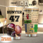 Personalized American Football Knowledge Stainless Steel Tumbler, Tumbler Cups For Coffee/Tea, Great Customized Gifts For Birthday Christmas Thanksgiving Anniversary
