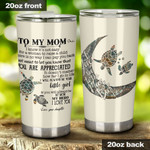 Personalized Custom Name Turtle To My Mom Stainless Steel Tumbler, Tumbler Cups For Coffee Or Tea, Great Gifts For Thanksgiving Birthday Christmas