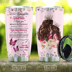 Personalized To My Daughter From Mom Stainless Steel Tumbler, Tumbler Cups For Coffee/Tea, Great Customized Gifts For Birthday Christmas Thanksgiving, Anniversary