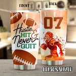 Personalized American Football Stainless Steel Tumbler, Tumbler Cups For Coffee/Tea, Great Customized Gifts For Birthday Christmas Thanksgiving Anniversary