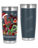 School Secretary, Love Christmas Stainless Steel Tumbler, Tumbler Cups For Coffee/Tea