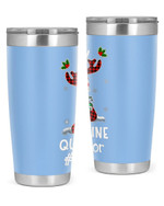 Counselor, Merry Quarantine Christmas Stainless Steel Tumbler, Tumbler Cups For Coffee/Tea